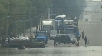 Floods in North Korea, July 2013