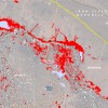 Satellite Map of Iraq Floods 2013