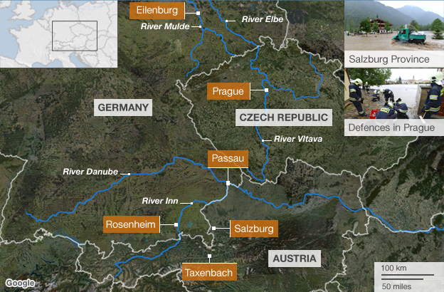 map of central europe 2013 Floods in Central Europe June 2013 – FloodList