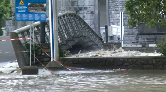 floods in Lourdes, France June 2013