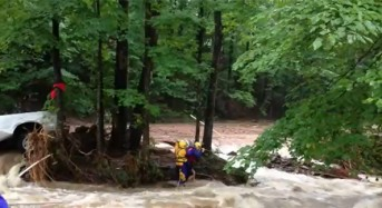 Flash Floods in North Georgia USA