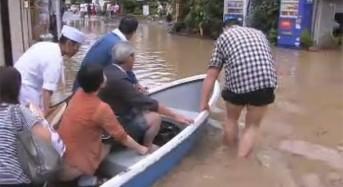 Floods Hit Japan after Typhoon Man-yi