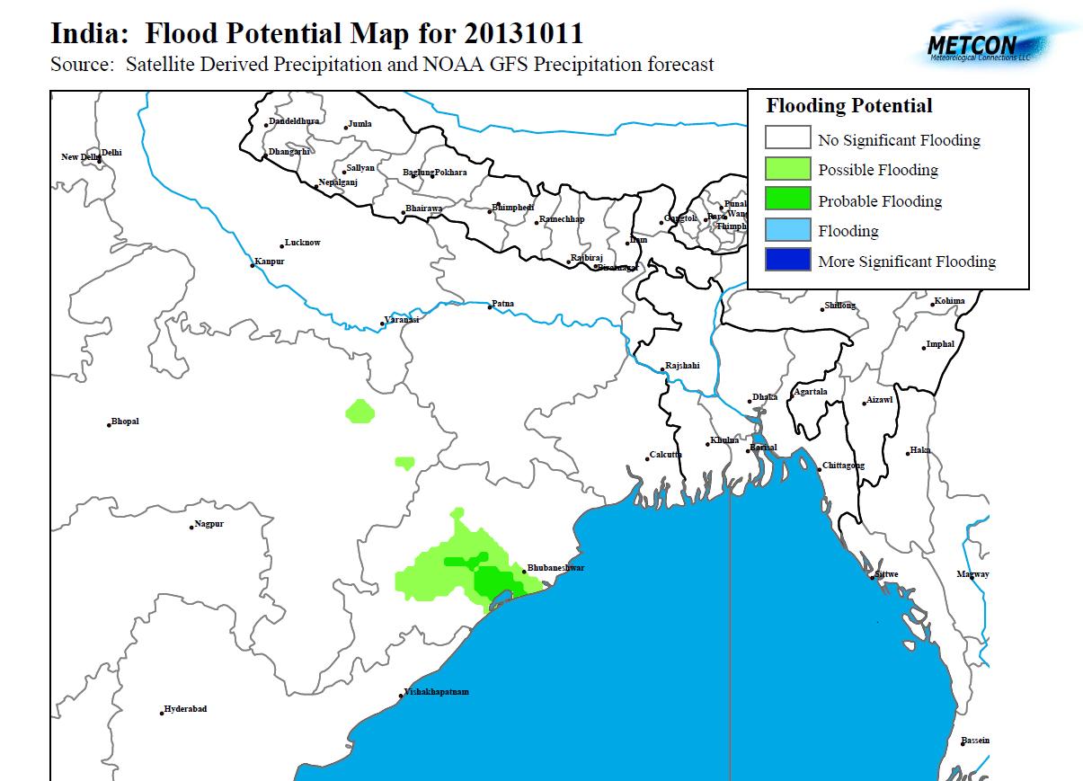 North East India Flood Potential Floodlist