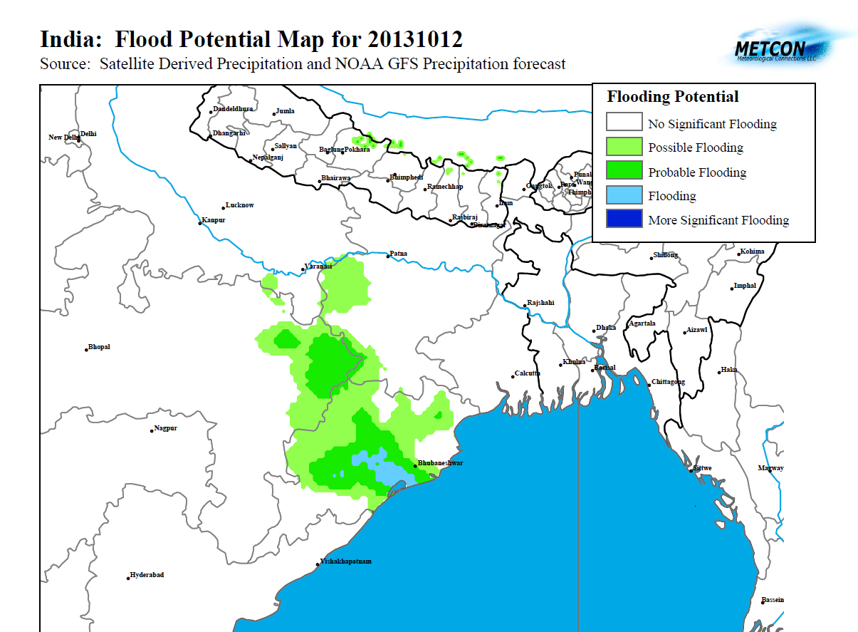 North East India Flood Potential