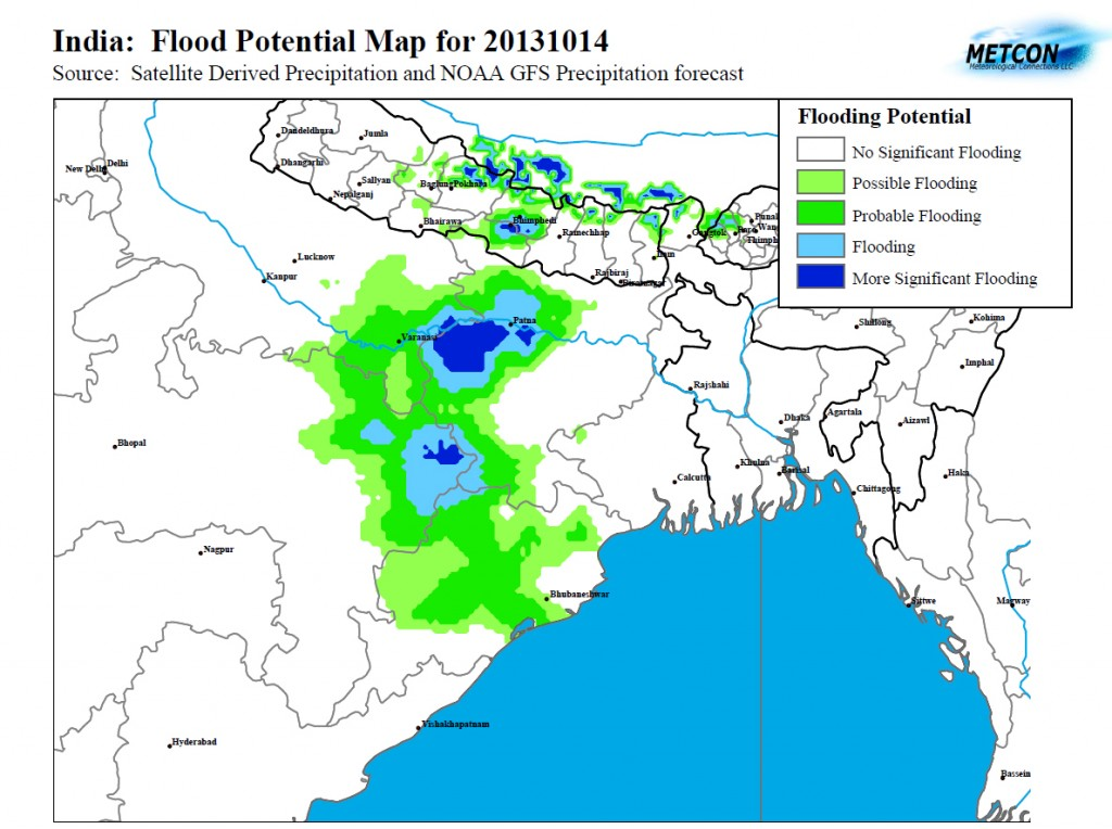 Potential Floods India October 2013