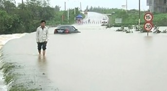 Floods in Hainan, China