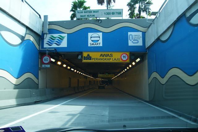 SMART flood tunnel entrance