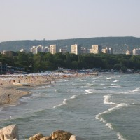 Part of the urbanised and highly touristic coast of Varna, another of RISC-KIT's Case Study sites.