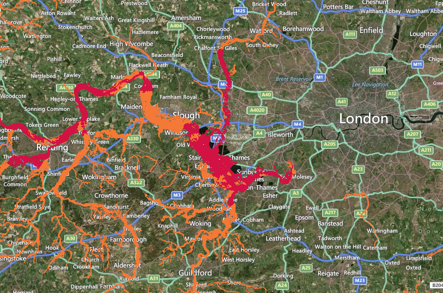 Floods England Map.River Thames Levels Threaten Floods In South East England Floodlist