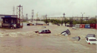 Record Rain Floods Magadan in Russia's Far East