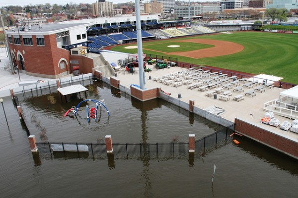 How Historic Stadium Keeps The Mississippi Floods Out Floodlist