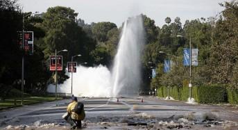 Los Angeles Burst Water Main Causes 10 Million Gallon Flood