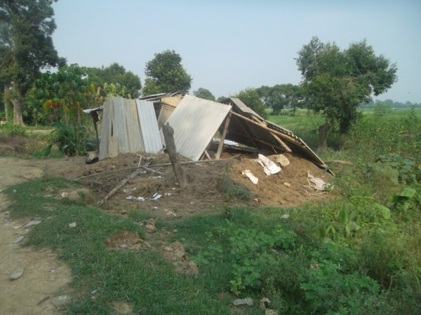 A house in Bardia district, lies destroyed after the floods in Nepal that have affected 200,000 people across the country. Photo: IFRC  Ramesh Ghemire, NRCS