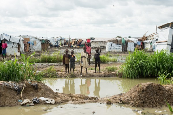 Floods in refugee camp at Bentiu, August 2014. Photo: UN Photo / Flickr