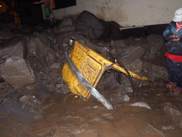 Flood and landslide damage in Chosica, Peru. Photo: Practical Action