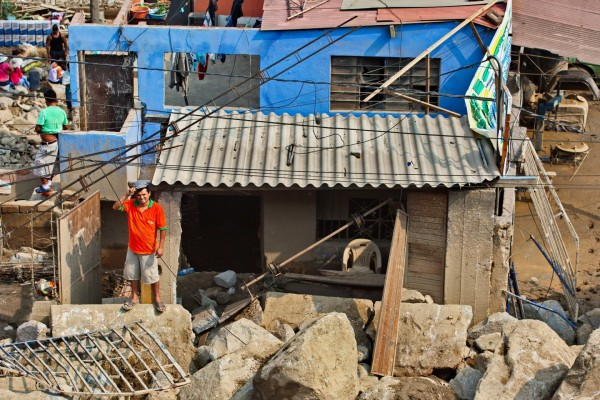 Flood and landslide damage in Chosica, Lima, Peru, March 2015. Photo: Practical Action
