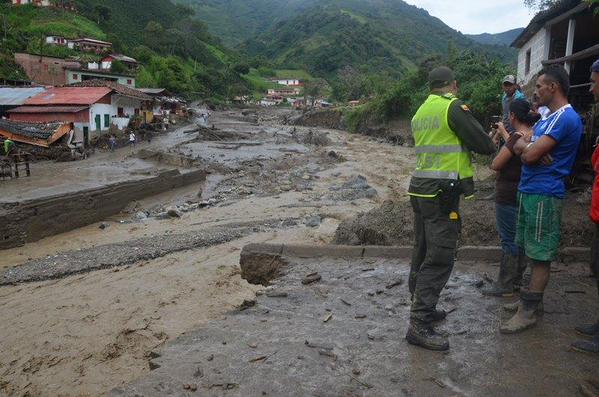 Salgar, Colombia floods and landslide. Photo: Policía Nacional de Colombia
