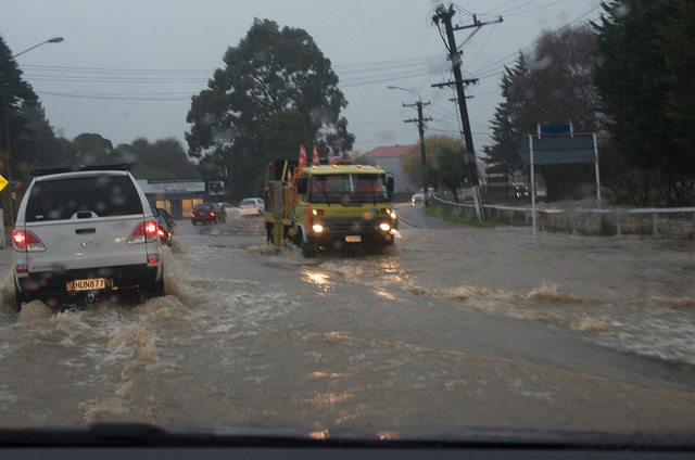 Floods in Dunedin, New Zealand,  03 June 2015. Photo: Jon Sullivan, licensed under Creative Commons