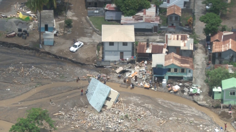 Flood damage in the Caribbean