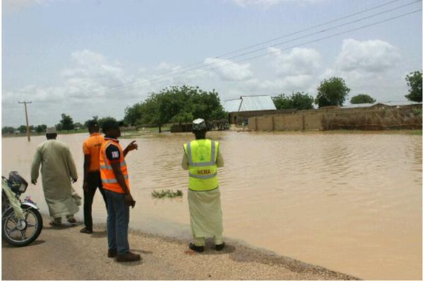 Assessing flood damage Sokoto, Nigeria. Photo: NEMA