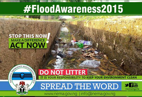 Flood awareness campaign in Nigeria. Image: NEMA