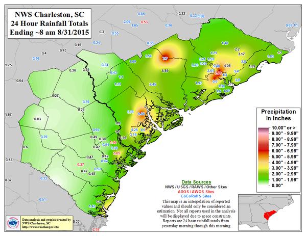 Remnants Of Storm Erika Dumps 162 Mm Rain On Charleston