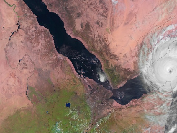 Image of tropical cyclone Chapala in the Gulf of Aden, captured by the AVHRR instrument onboard EUMETSAT's Metop-A polar-orbiting satellite on Monday 2 November 2015, 06:55 (UTC). Copyright: 2015 EUMETSAT""
