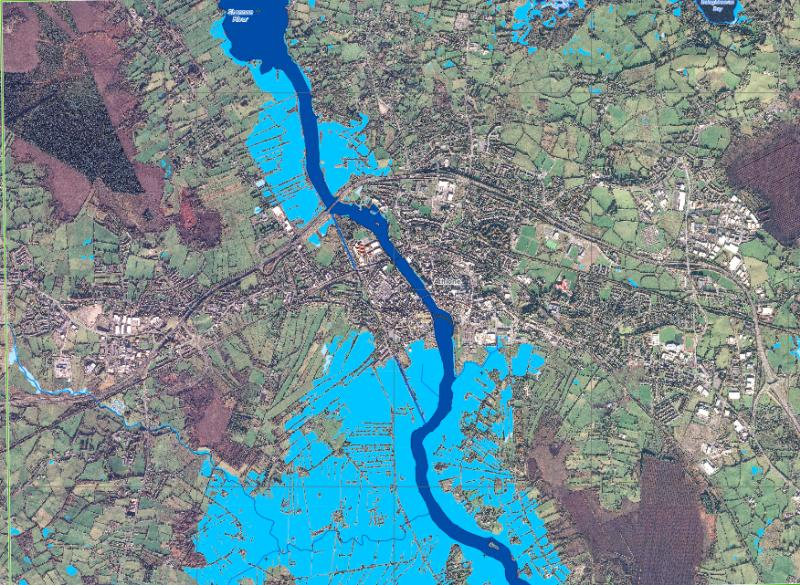 Map Of Ireland Showing Athlone.Ireland River Shannon Floods Affect At Least 6 Counties Floodlist