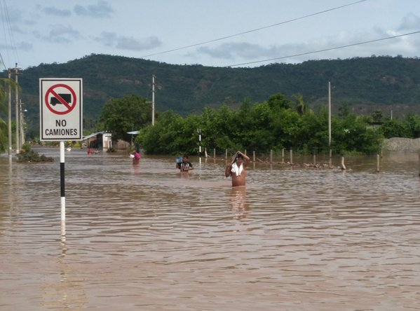 Floods in Bellavista, San Martin, Peru, December 2015. Photo: INDECI