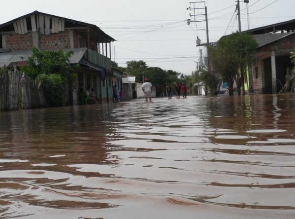 Floods in San Rafael, San Martín, Peru, after the Huallaga river overflowed. Photo: INDECI