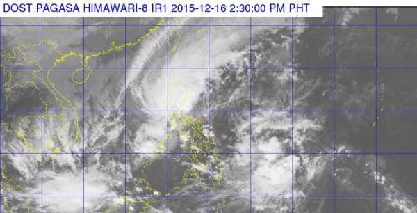 Tropical depression heading towards the Philippines. Image: PAGASA