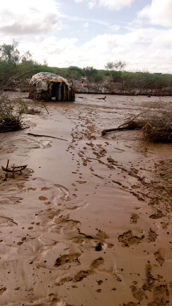 Oldonyiro in isiolo, after heavy rain in December 2015. Photo: Kenya Red Cross