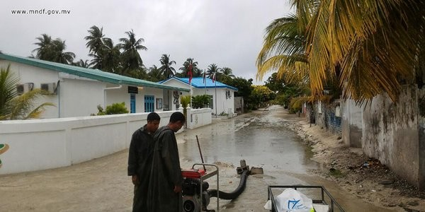 Flooding in the maldives