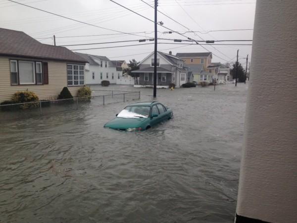 Floods in Wildwood, New Jersey.