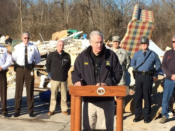 Governor Nixon visits the flood hit areas in Missouri. Photo: Office of the Governor, Missouri