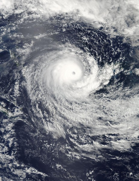 On Feb. 21, 2016 at 02:15 UTC (Feb. 20 at 9:15 p.m. EST) NASA's Aqua satellite captured this visible image of Tropical Cyclone Winston in the South Pacific Ocean, west of Fiji. Credit: NASA Goddard MODIS Rapid Response Team/Jeff Schmaltz