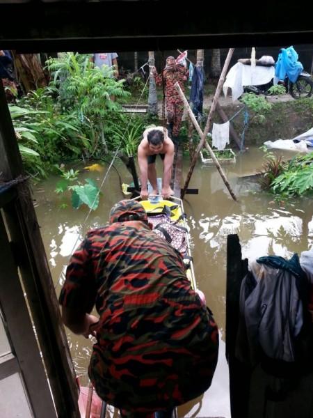 Flood evacuations in Sarawak, Malaysia, February 2016. Photo: Bomba Malaysia