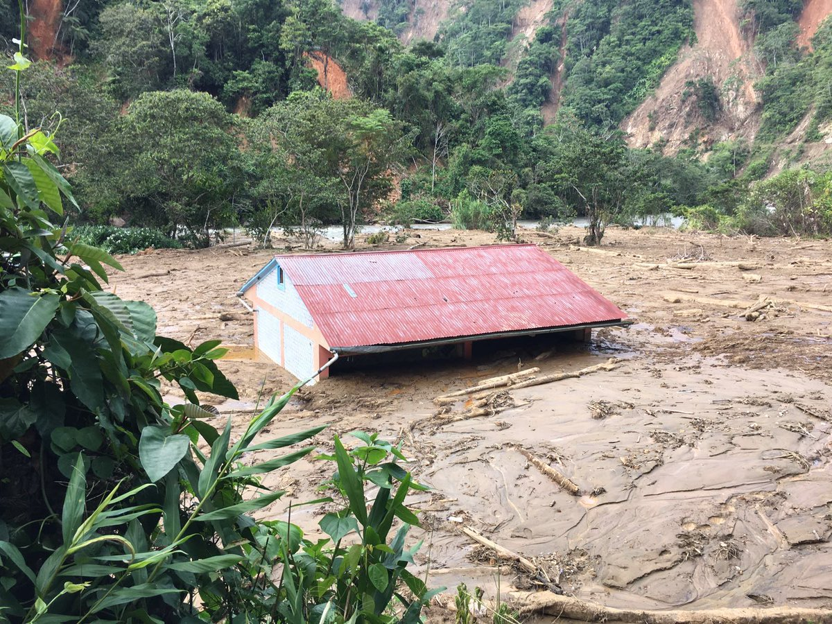 Aftermath of floods and landslides in Satipo Province, Junín region, February 2016. Photo: INDECI