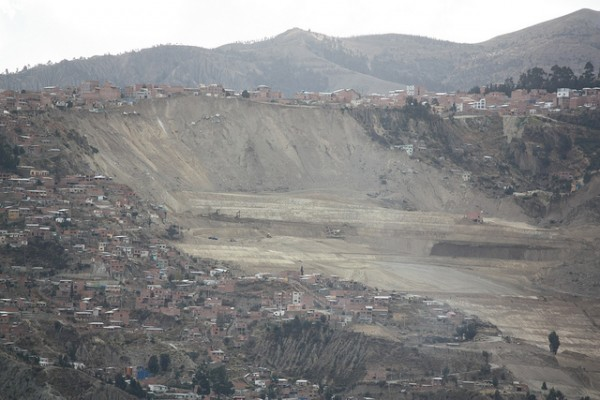 Area of the February 2011 La Paz landslide. Photo: Senorhorst Jahnsen Under CC BY 2.0