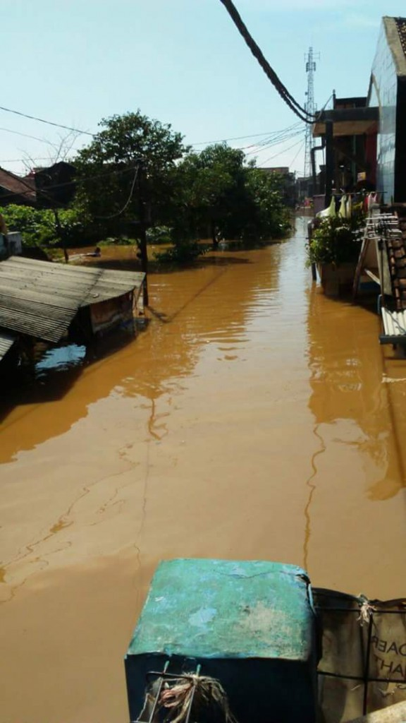 Floods in Bandung, March 2016. Photo: BNPB