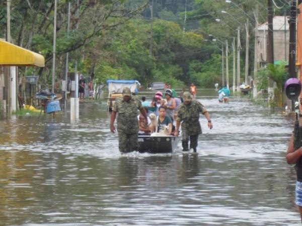 Photo: Defesa Civil da Praia Grande