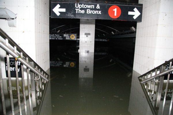 new york subway flood