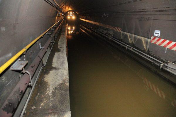 Water in Cranberry Tube on A & C Line, New York, November 2012. Photo: MTA New York City Transit / Leonard Wiggins