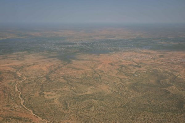 The overflowing Shabelle River from the air. Photo: Tobin Jones/ AMISOM, May 2016
