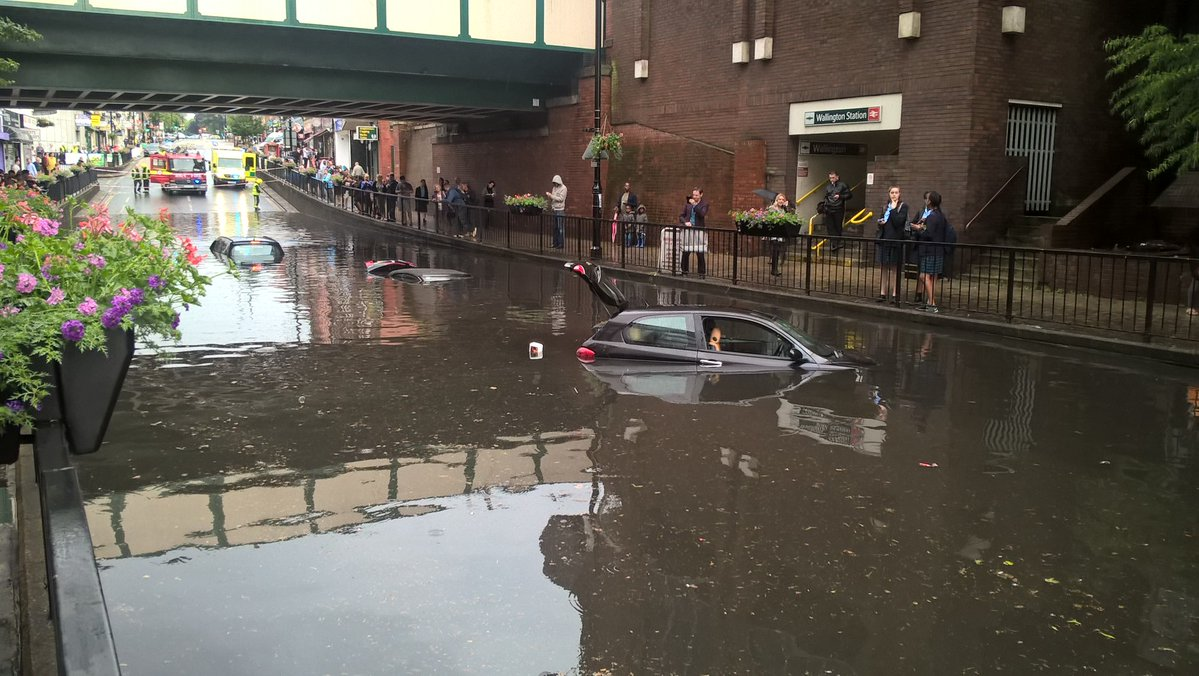 Image result for purley flooded