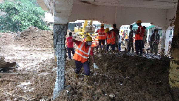 Search and rescue operations by NDRF after the Bhalukpong landslide, Arunachal Pradesh. Photo: NDRF