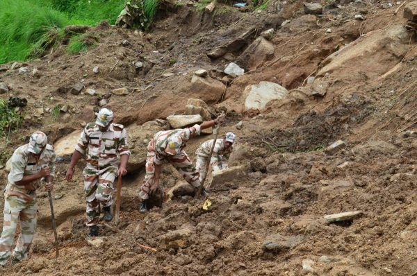 Search operations after floods in Bastadi, Pithoragarh, Uttarakhand. Photo: Indo-Tibetan Border Police