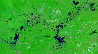 China – Yangtze River Floods from Space