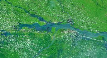 India – Ganges River Floods From Space