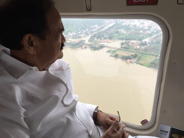 India's Minister for Urban Development also visited flood hit areas. Photo: Ministry for Urban Development